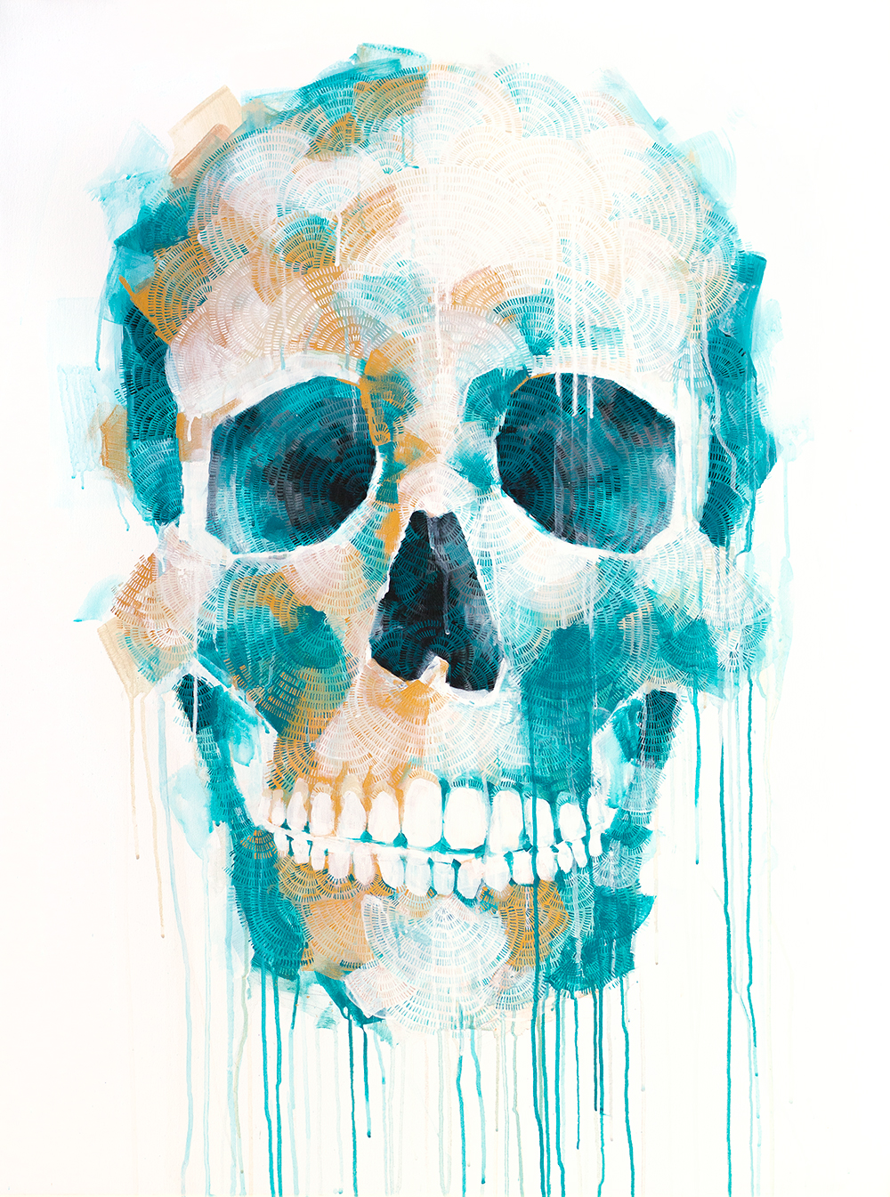Skull With Blue