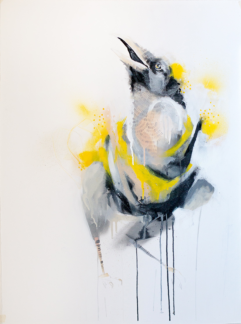 Crow with Yellow