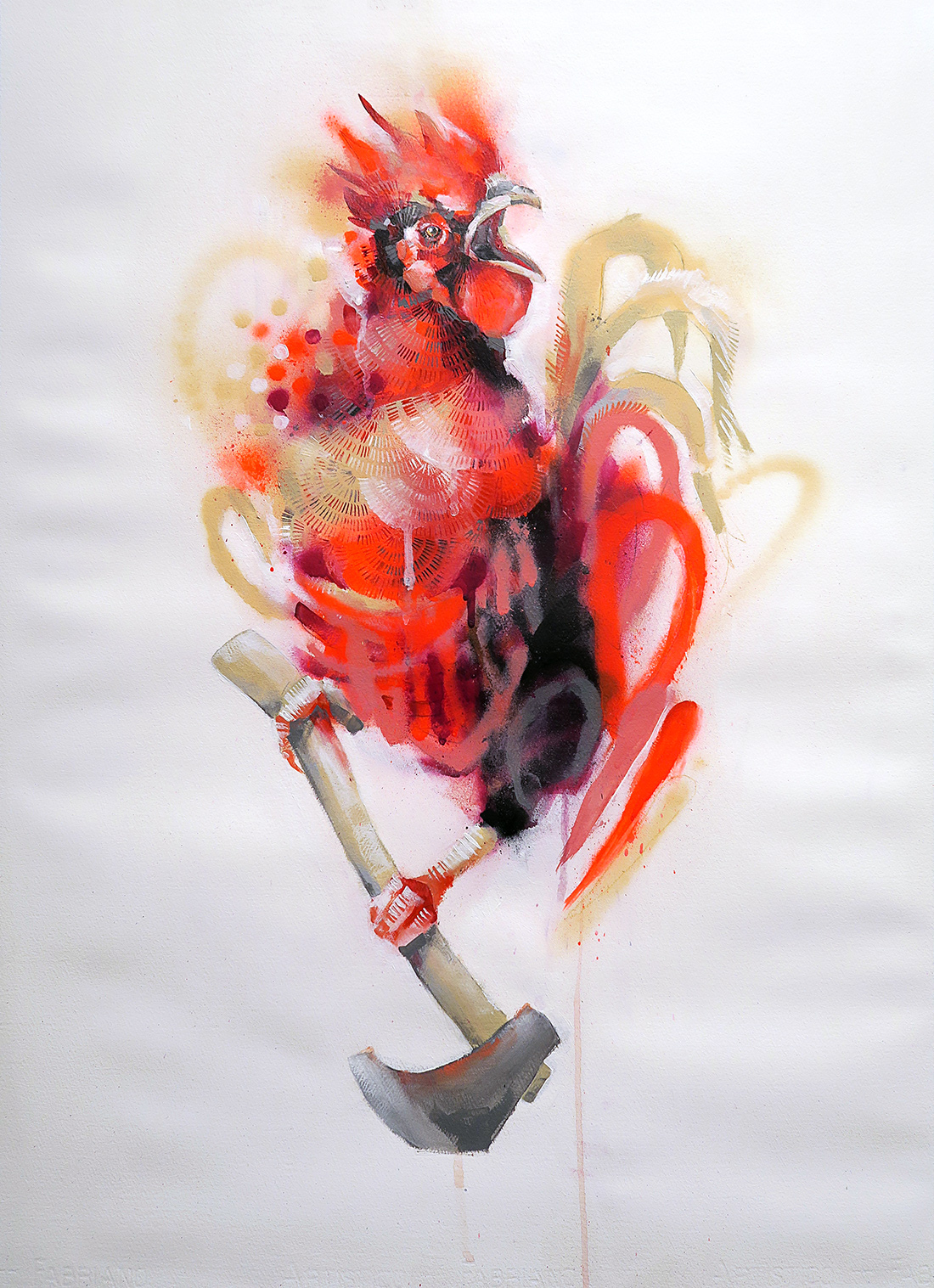 Rooster and Axe (Bright)