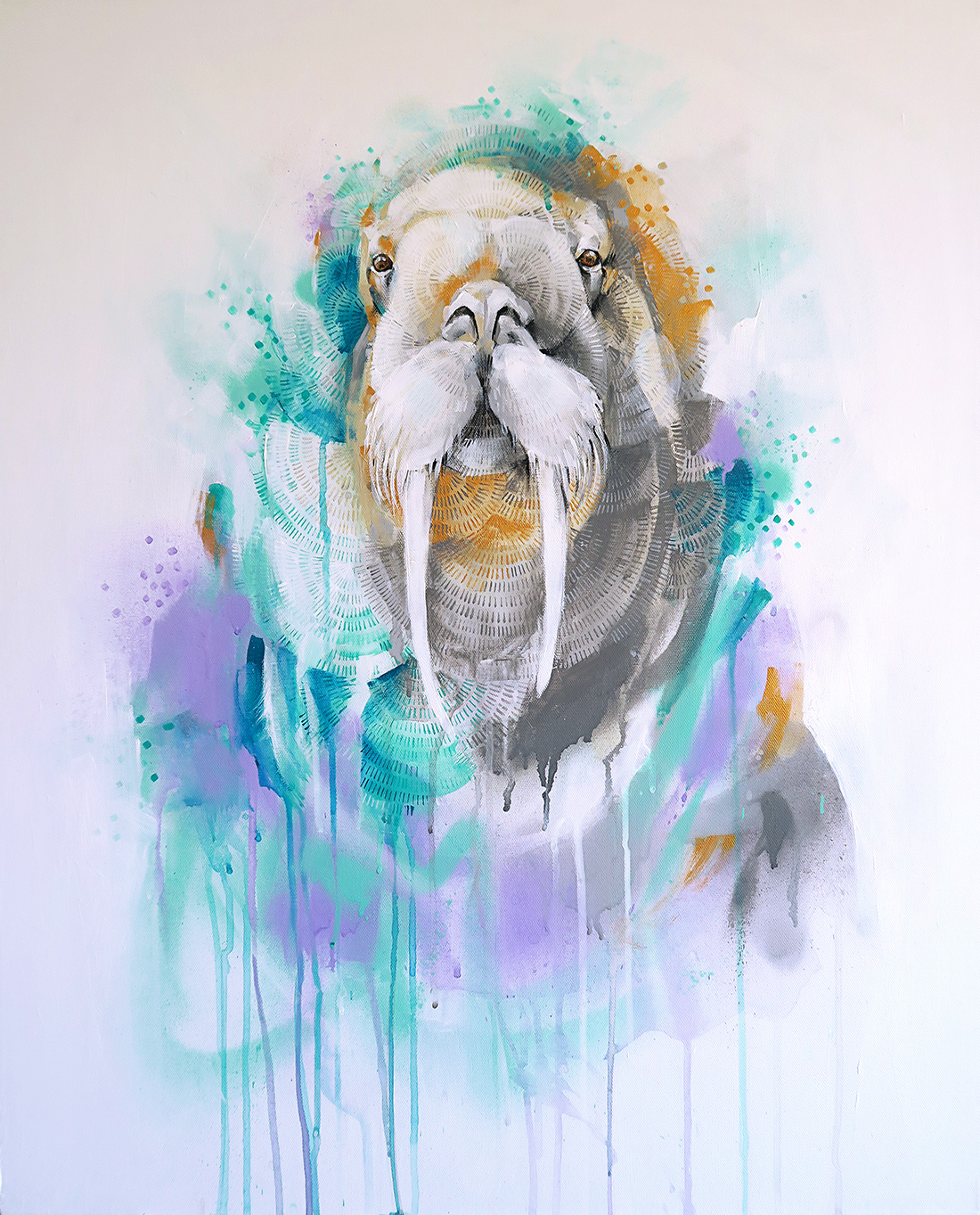 Walrus with Lilac