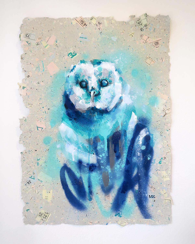 Owl in Blue
