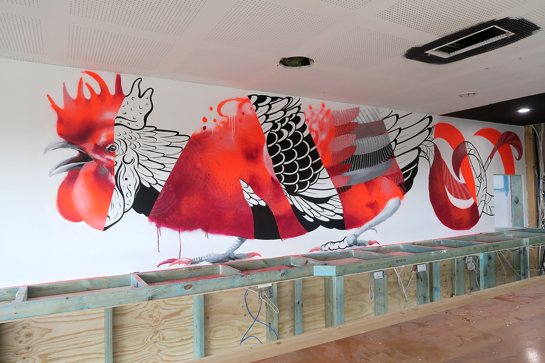 Seaside Rooster (Bar Wall)