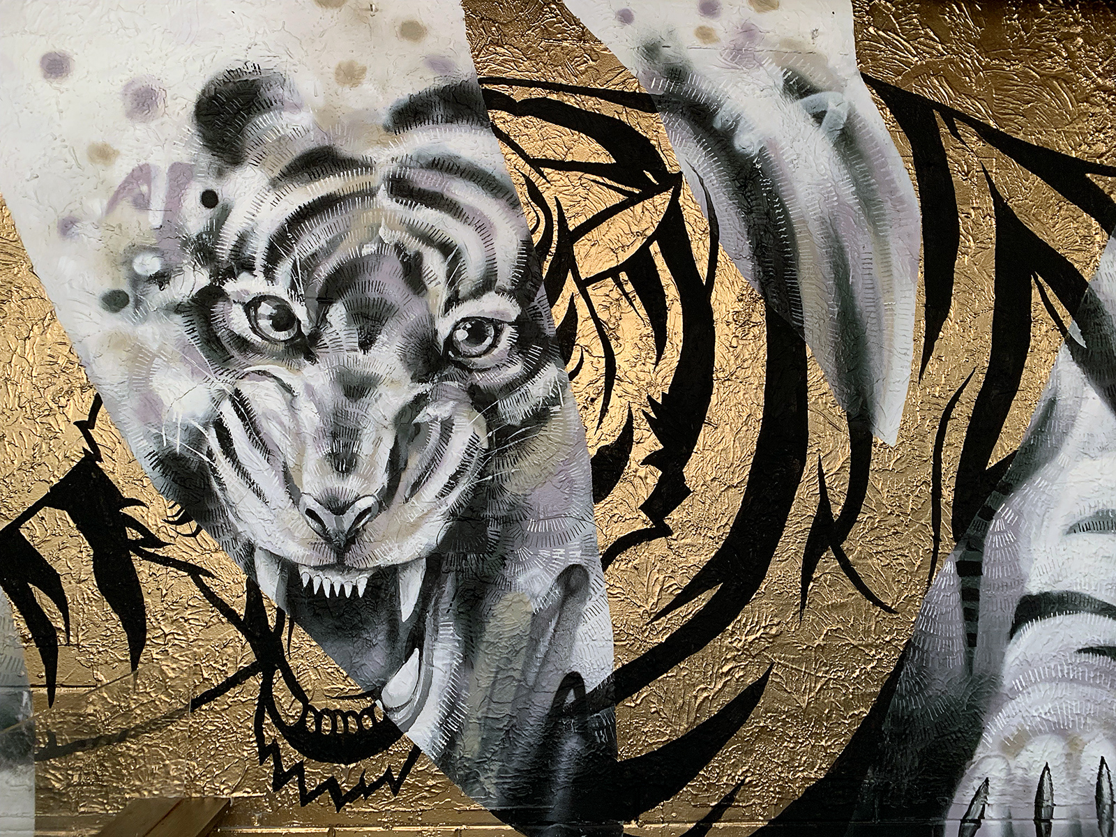 Tiger with Gold (Detail)