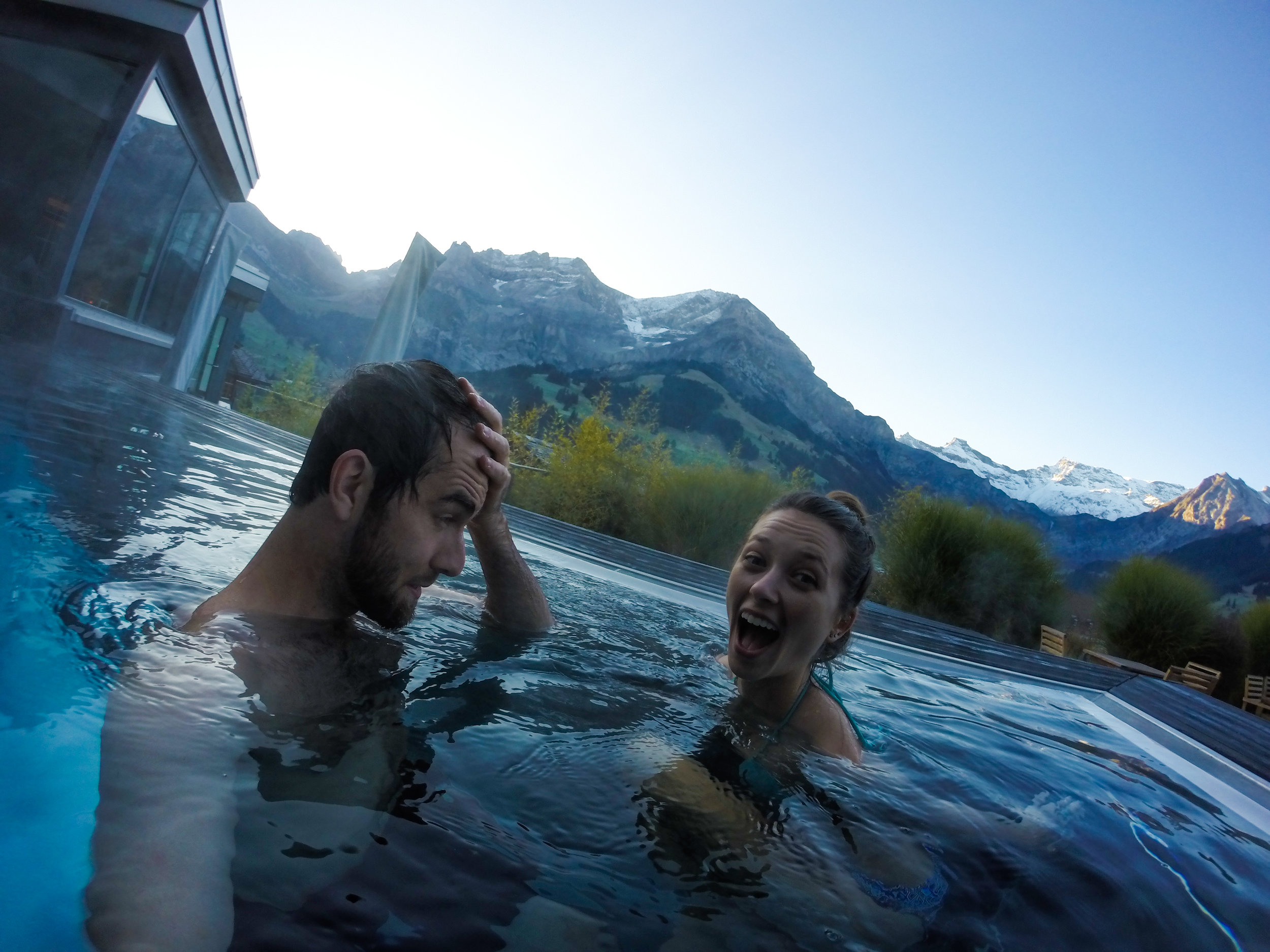 The view from The Cambrian's heated pool is like no other.