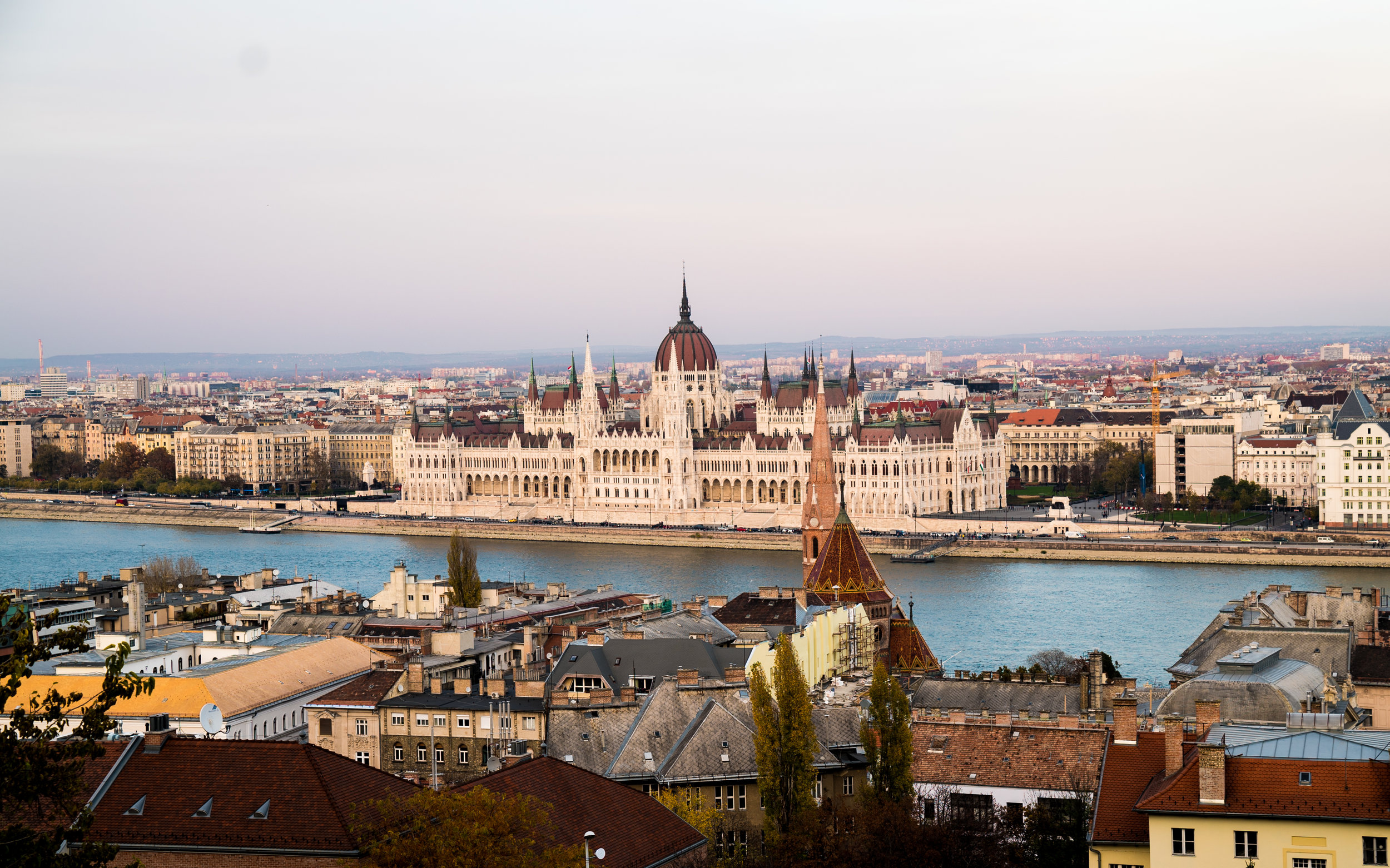 Overlooking Pest and Parliament from Buda