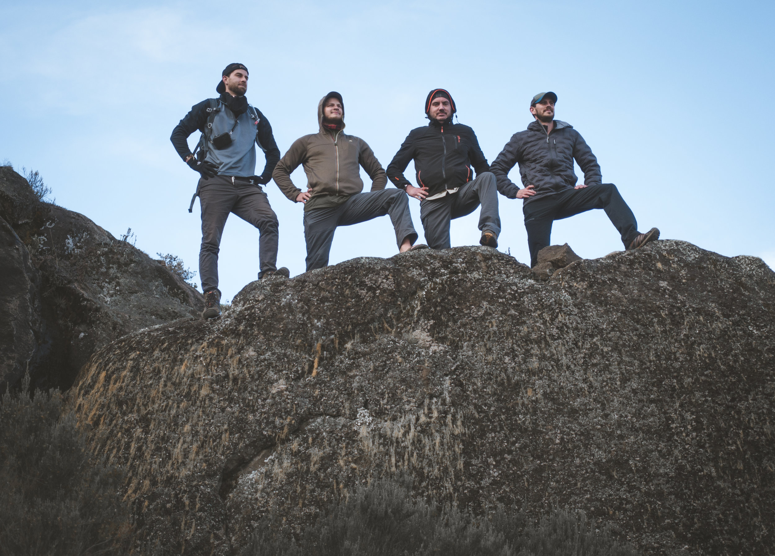 From left to right; Me, Kyle, Todd & Justin near Zebra Rock.