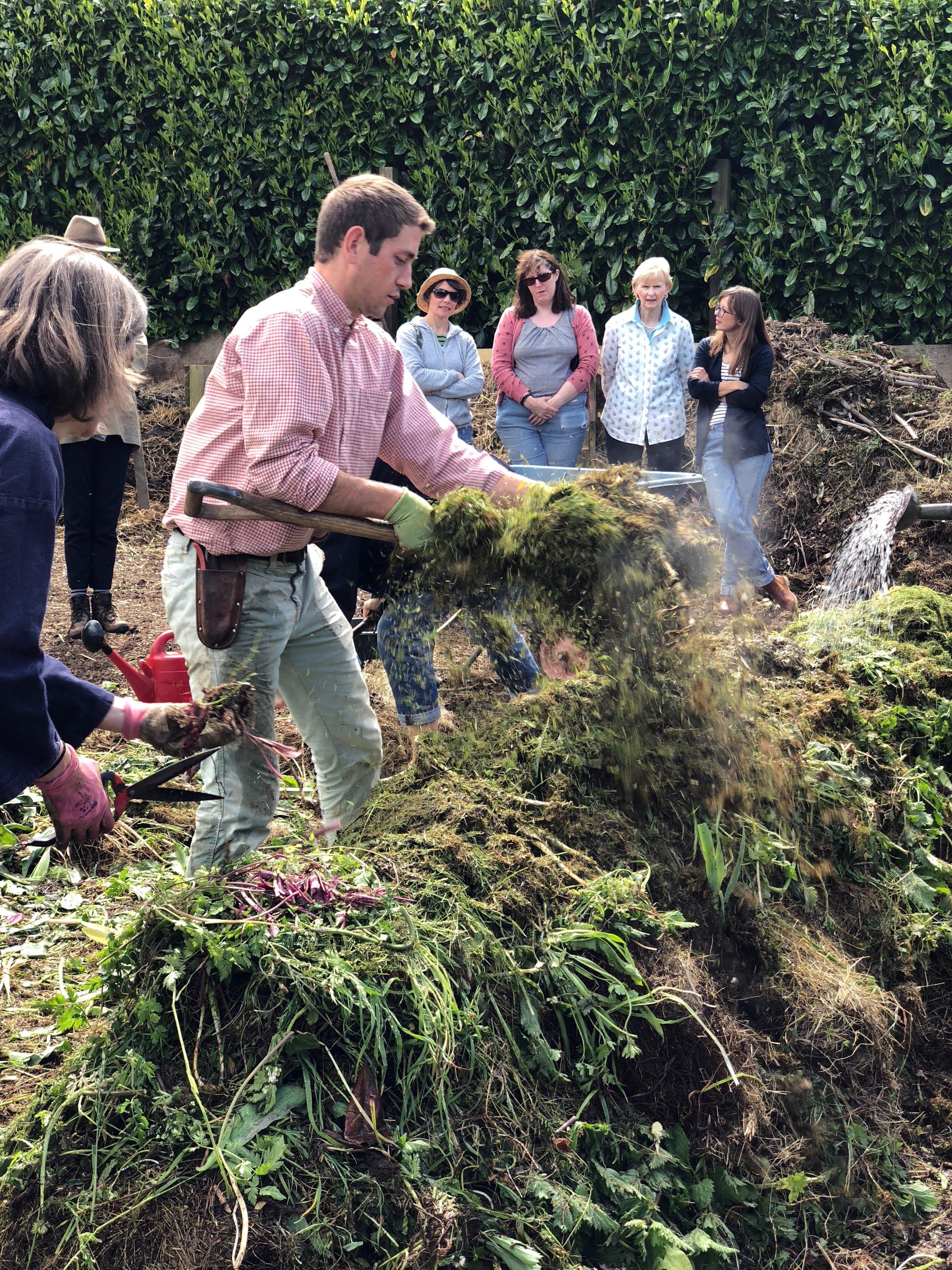Making compost at Wardington