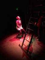 Emma Lloyd prepares for [kiss] in the RNCM Studio Theatre [24.01.16]