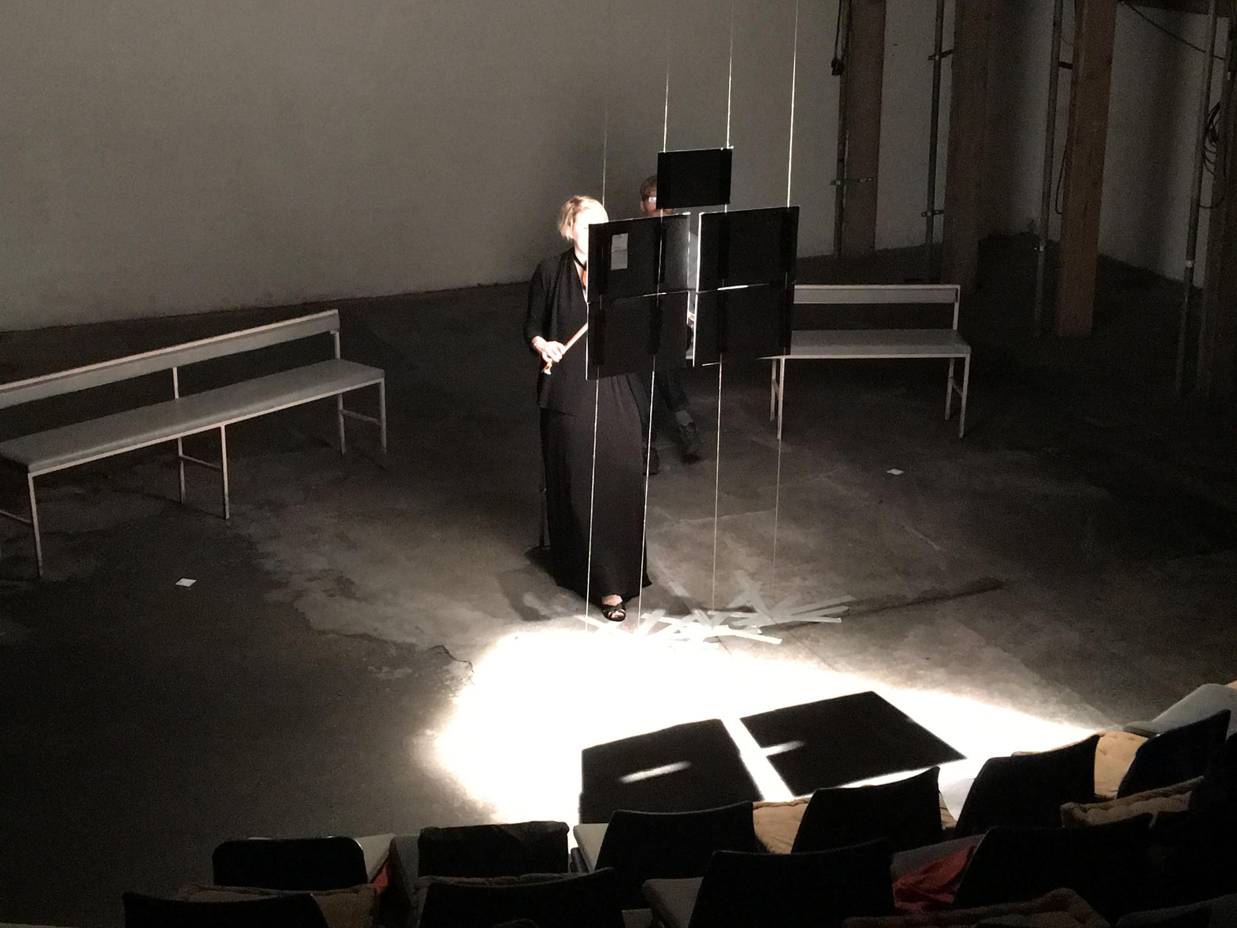[kiss] in performance at the Yard Theatre, London, 29.05.16. Emma Lloyd, violin.