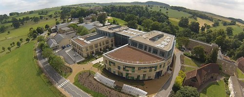 Bath Spa University Music department from the air