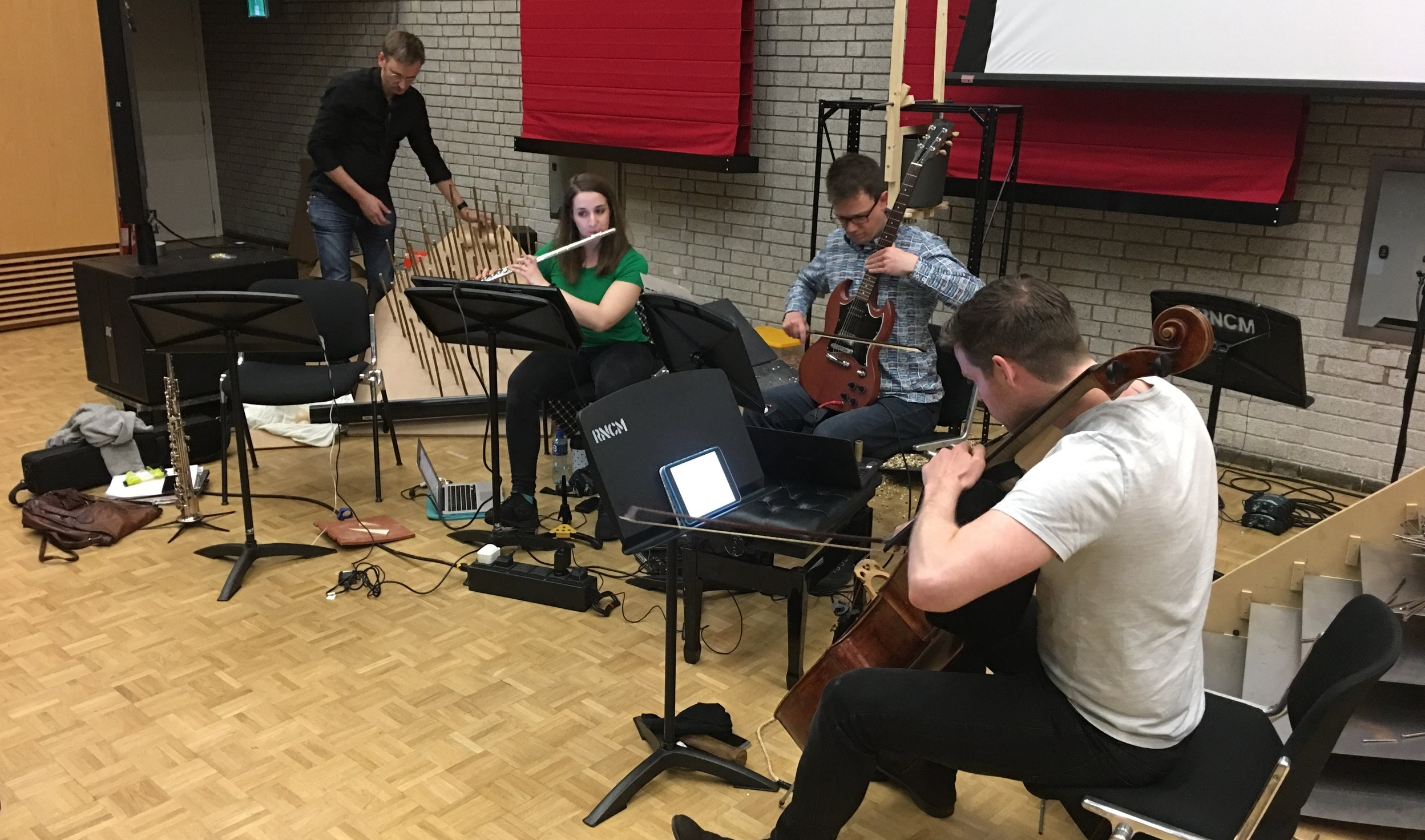Meeting the Universe Halfway  in performance at the Royal Northern College of Music, Manchester, in May 2018.