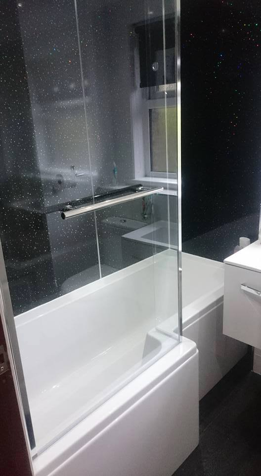Small bathroom design and installation for customer in Fife.