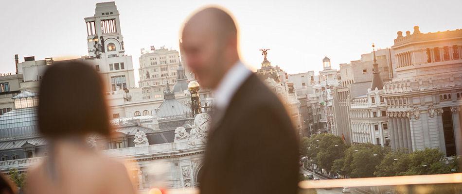 Best Bars Madrid ~ Terraza Cibeles / Photo: Hilario Sanchez adolfo-palaciodecibeles.com
