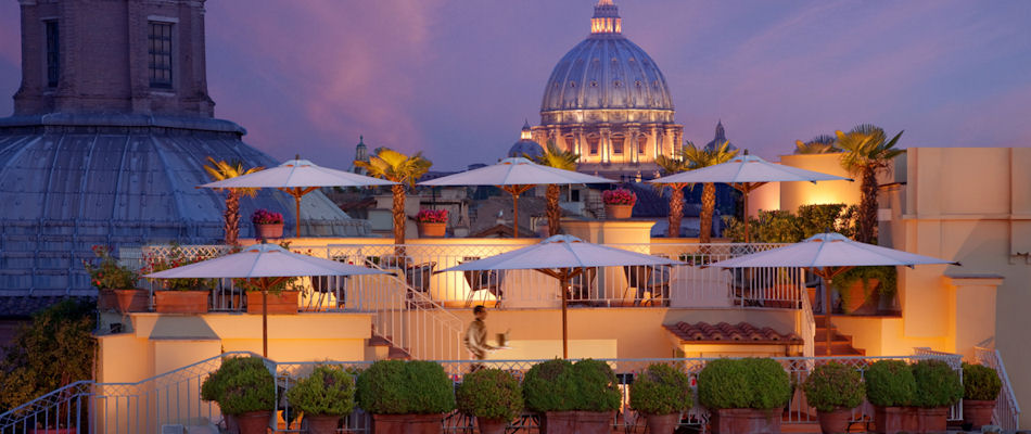 Best Bars Rome ~ Hotel Raphael / Photo: raphaelhotel.com