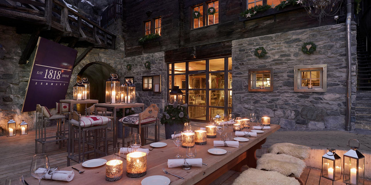 Best Bars Zermatt ~ Restaurant 1818 / Photo: 1818zermatt.ch