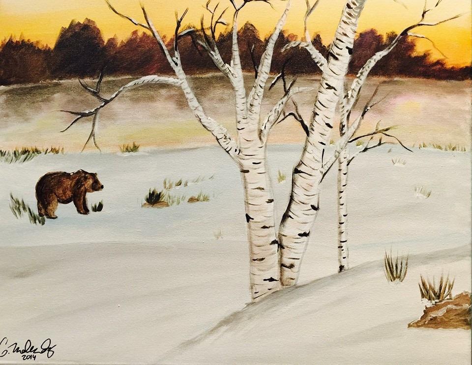 winter birch and bear.jpg