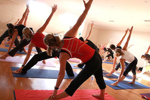 office yoga wellness program