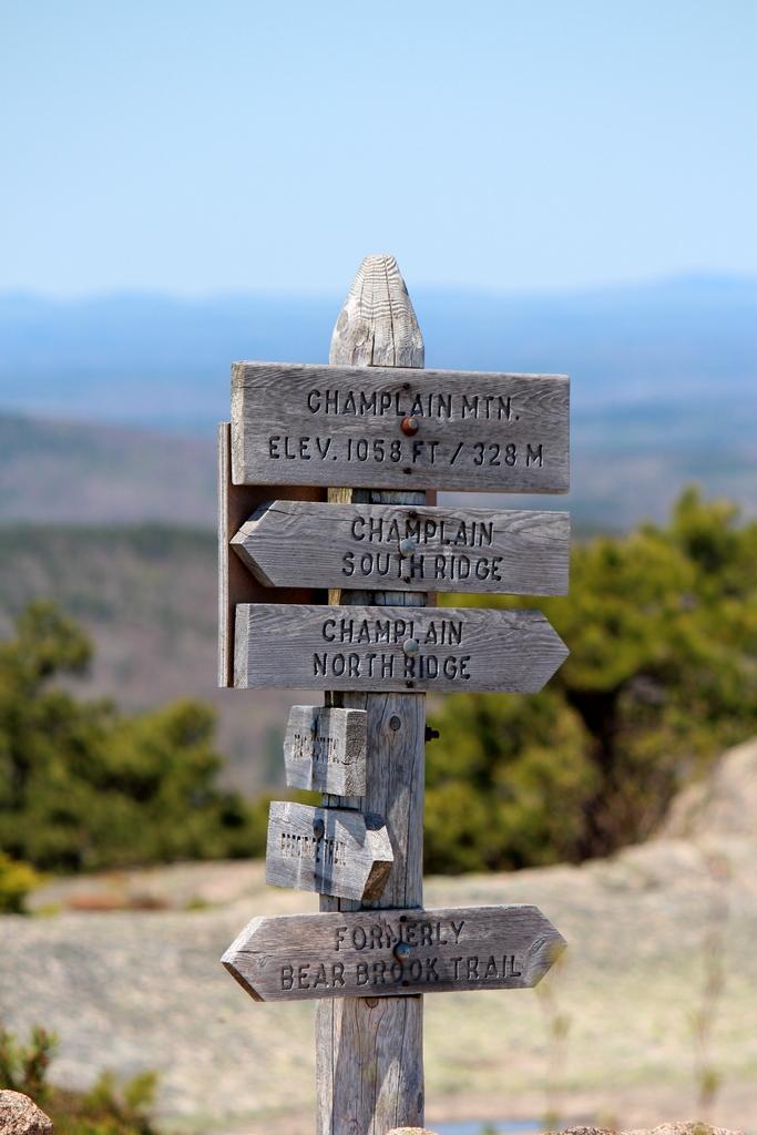 Champlain Mountain Top