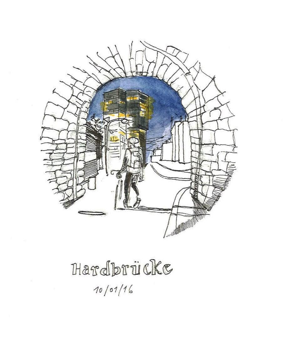 Hardbrücke -hipster town