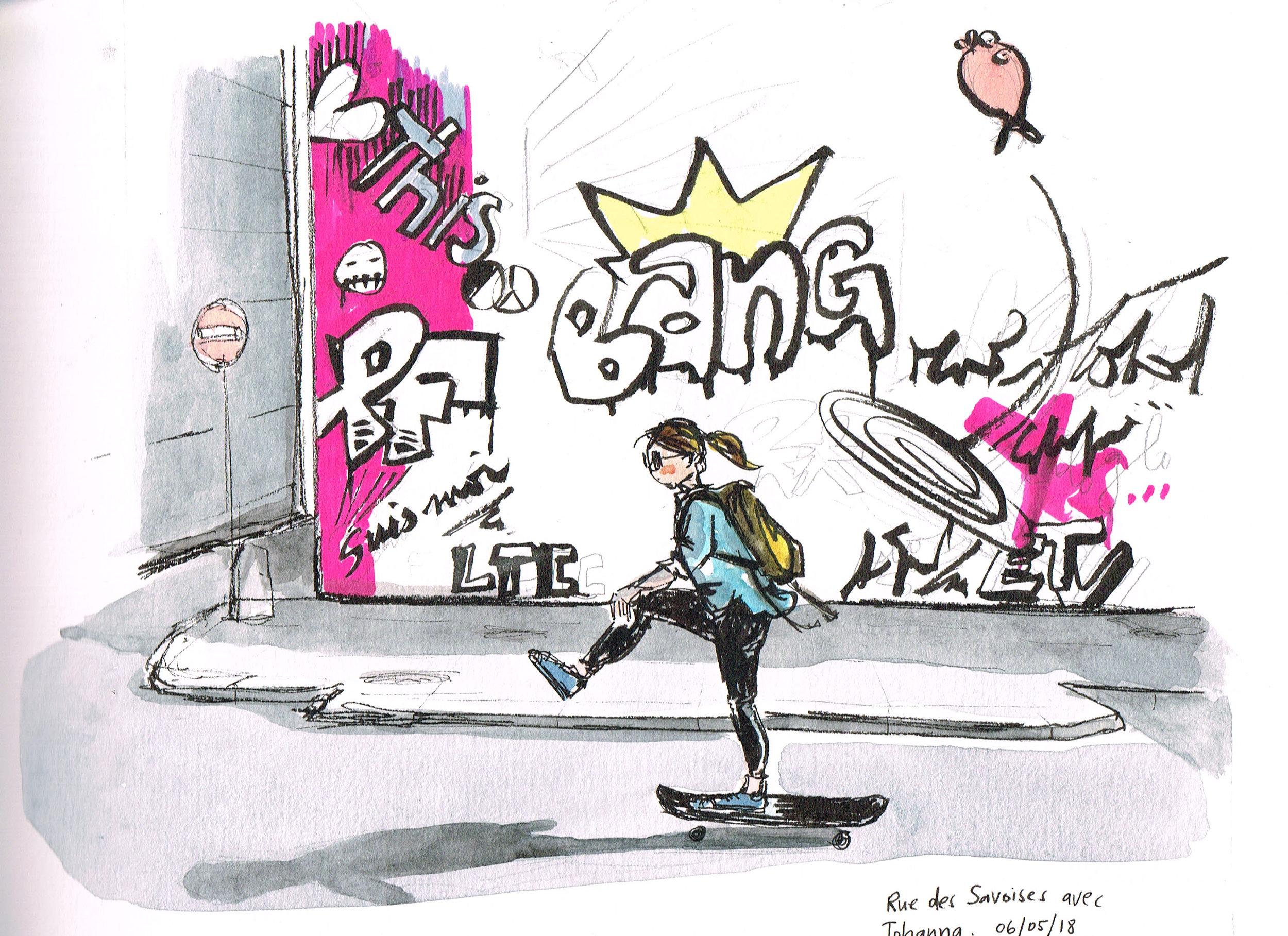 Half Pint skating