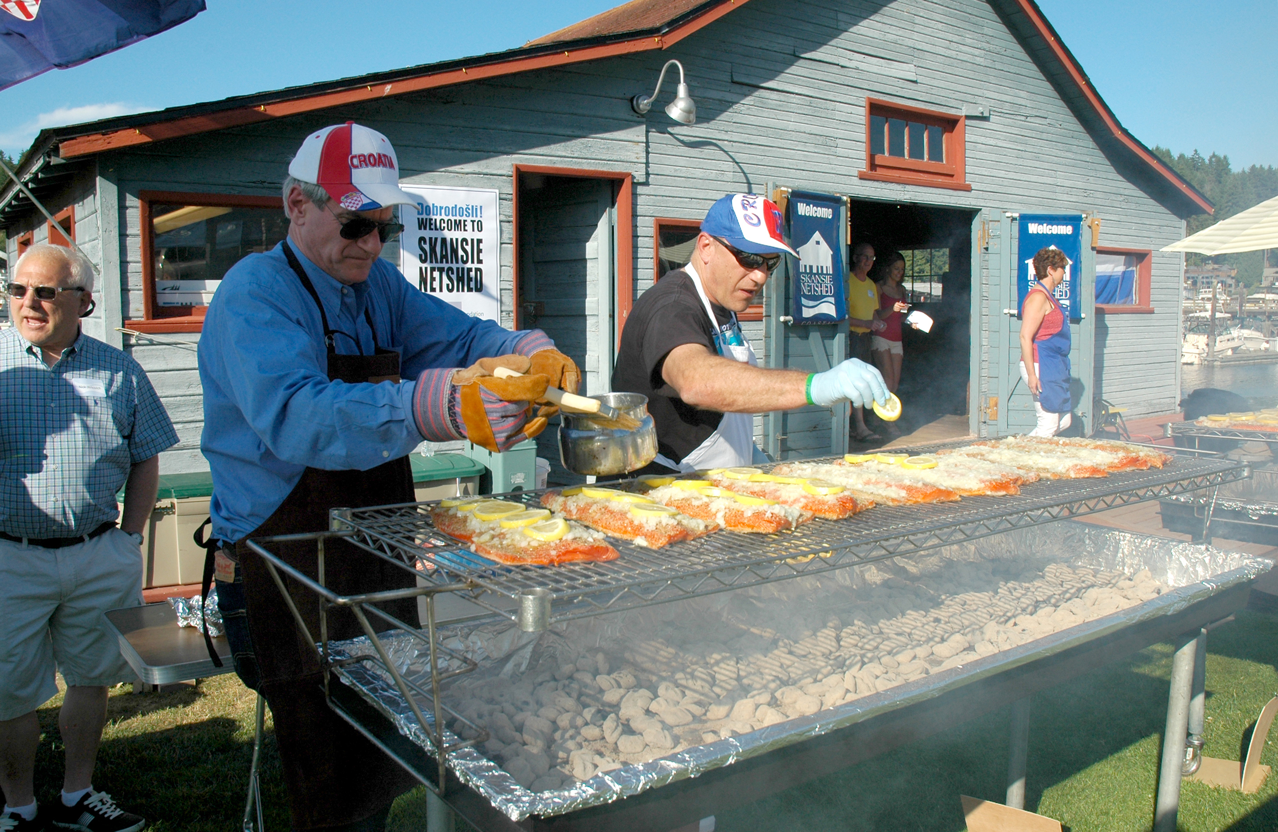 Chefs David Lovrovich and John Skansie prepared the meal.