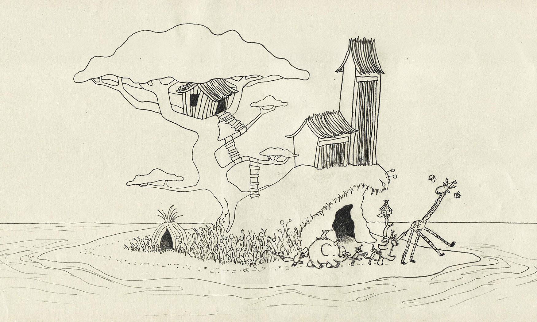 Henry's Island sketch