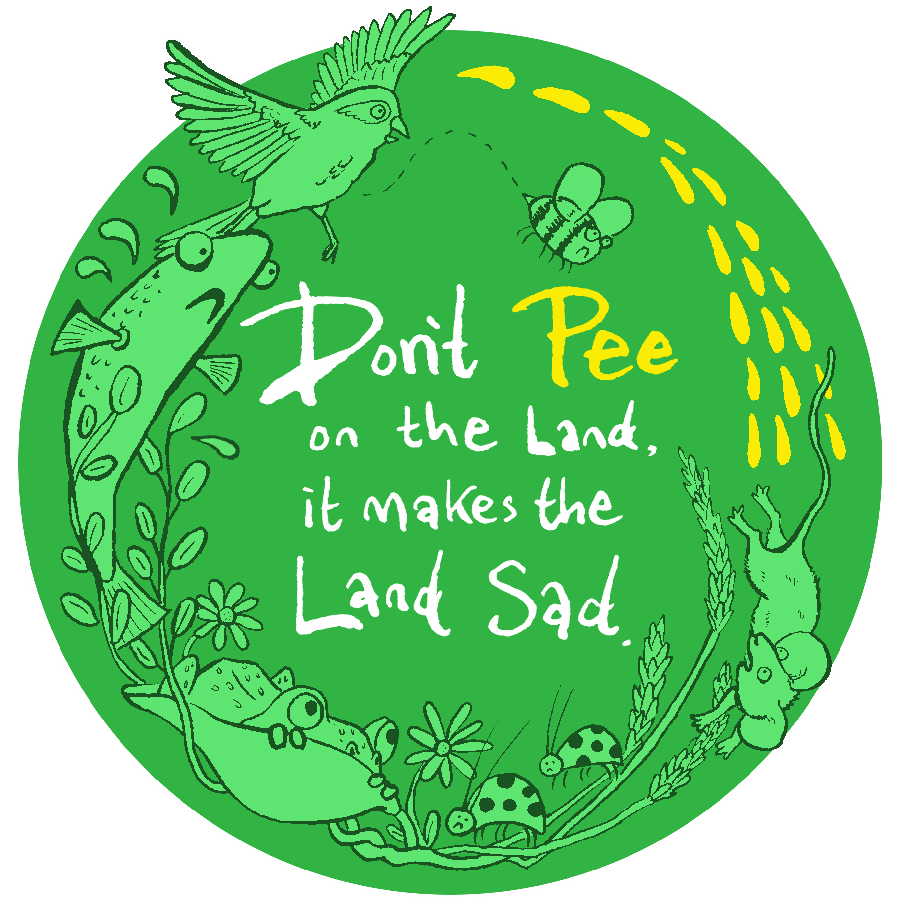 Glastonbury 'Don't Pee' logo