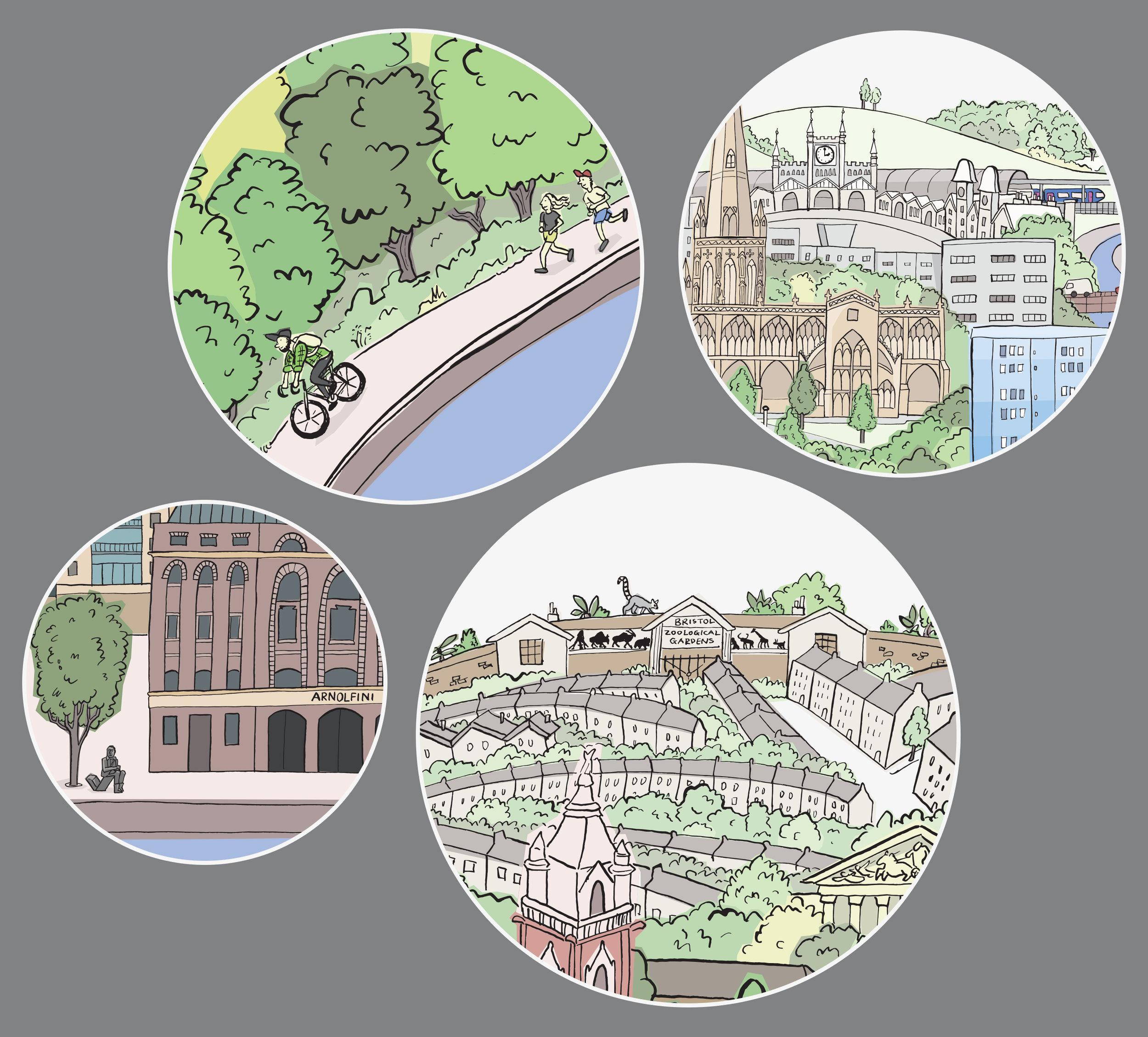 "Scenes from ""My Bristol"" mural"