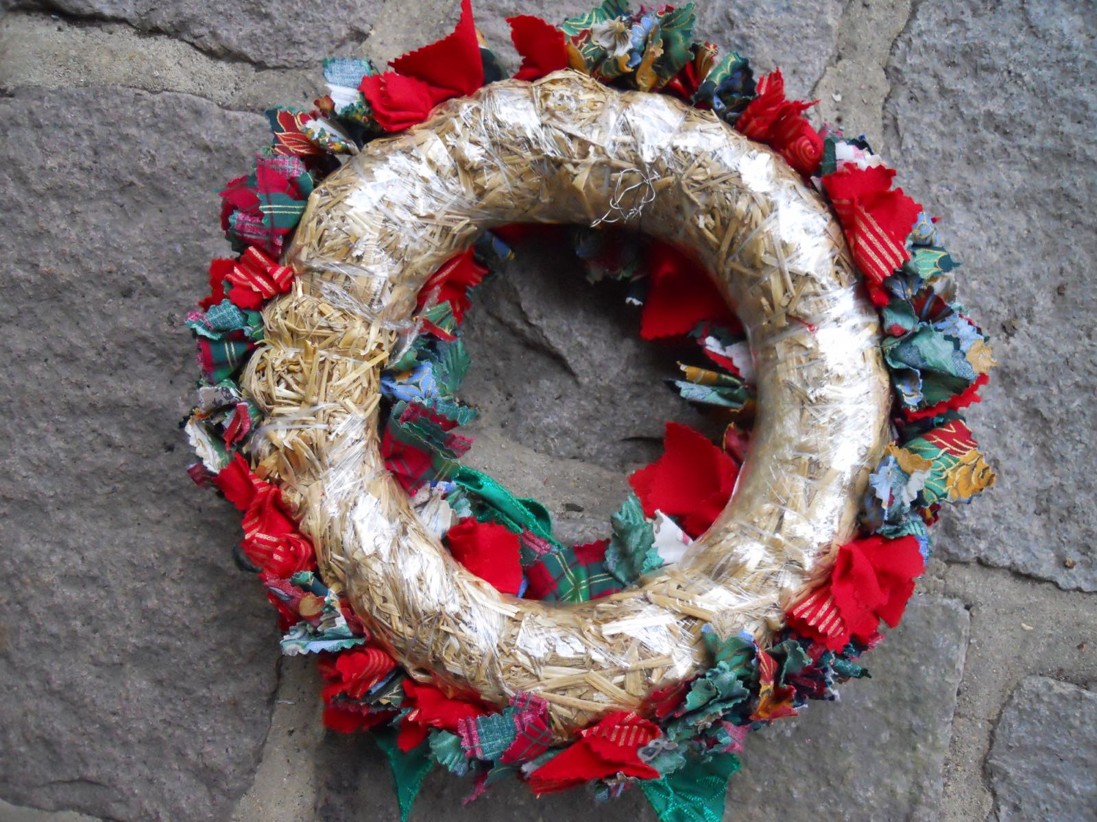 These wreaths are available at most craft stores and big box stores with craft sections.