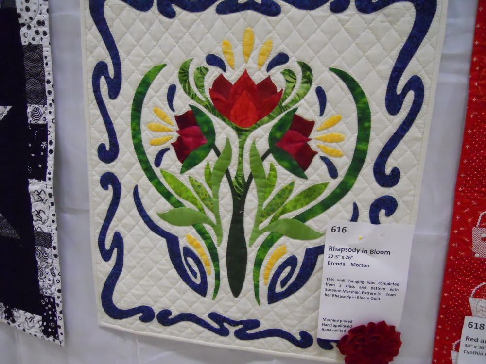Piece and Plenty Quilt Guild 2015 second place winner in quilted wall hanging category.