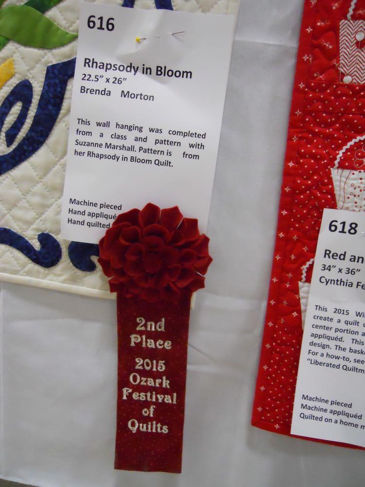 Congratulations on your award, Cindy Felts!