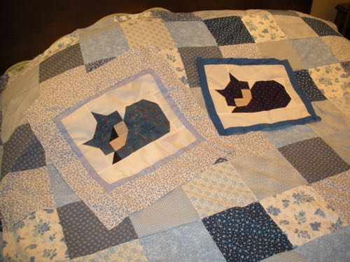 Our custom sleeping cats quilts and shams are proudly made here in USA.