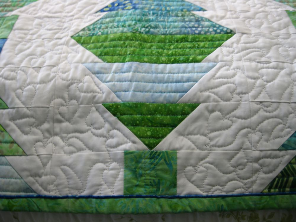 Center bottom is a good place to add custom embroidery in a dark blue thread.