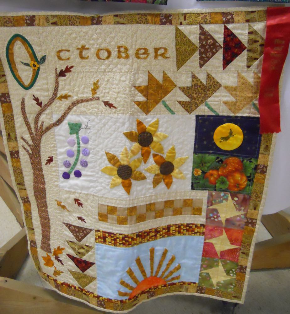 October quilt wall hanging from 2015 Piece and Plenty Quilt Guild show.