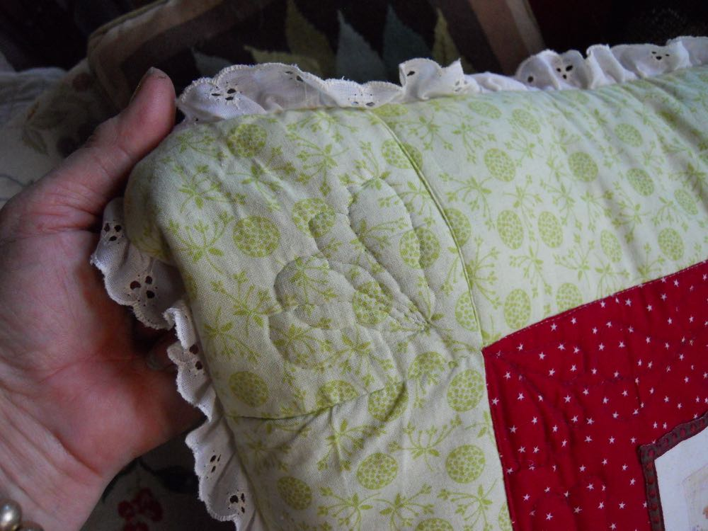 Quilting in each of the custom pillow corners add a nice details.