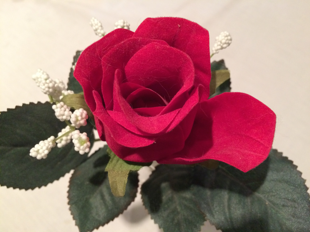 This handmade rose pen is a cherished gift I found on my office desk many years ago.