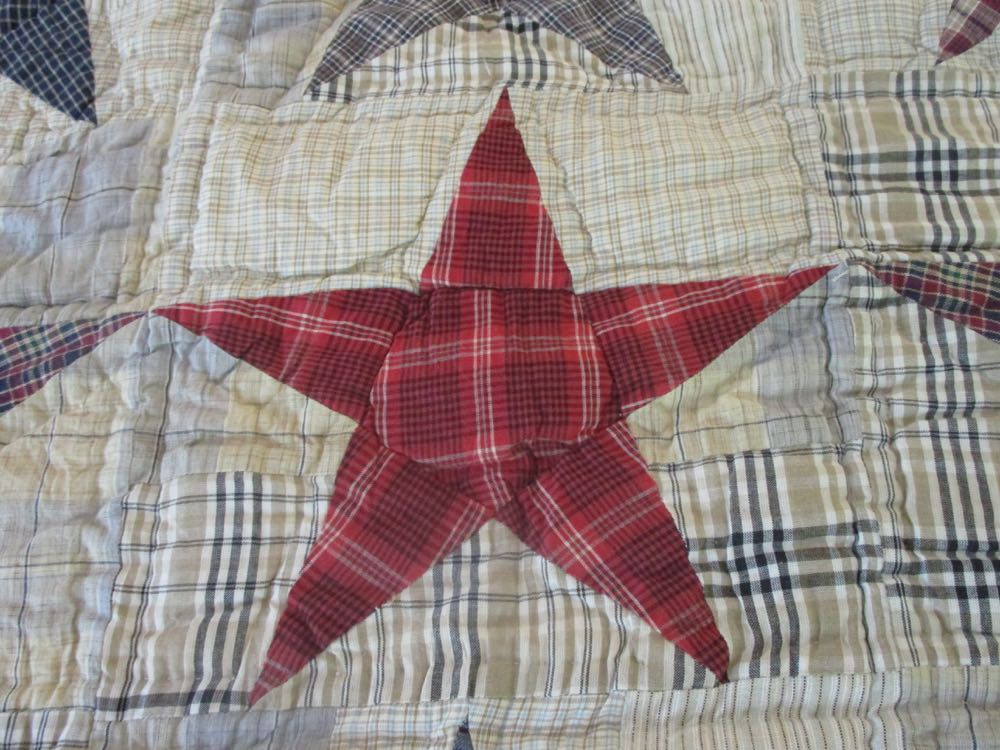Each fabric star in All Stars Handmade Quilt throw offers room to highlight someone's name.