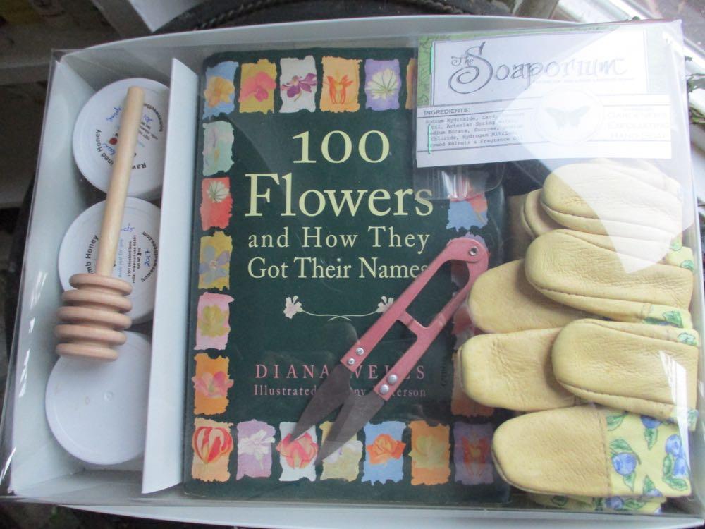 Bluebird Gardens honey sampler joins favorite gardener gifts in this custom gift set.