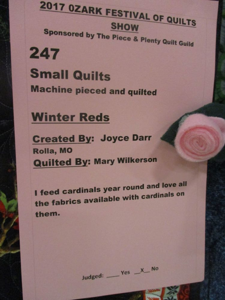 Every quilt has a story and this is the story that was posted with Winter Reds Handmade Quilt.