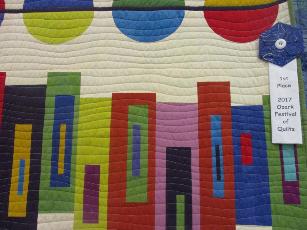 And this lovely modern quilt won first place at Piece and Plenty Quilt Guild's fall 2017 show.