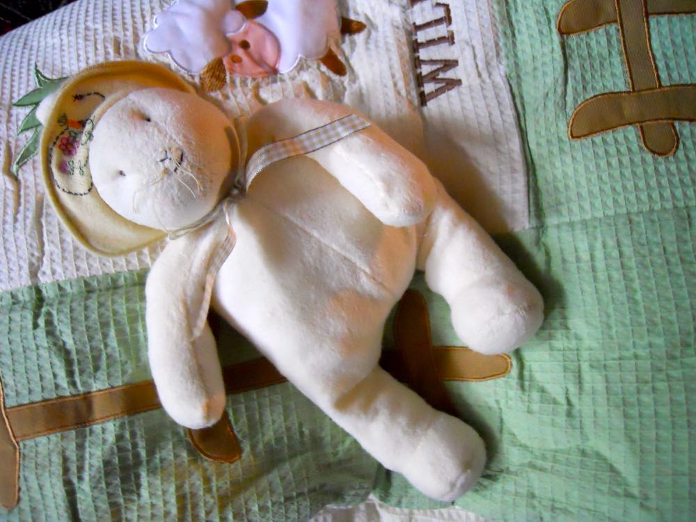 One more treat, we added a cute bunny rabbit gift toy in complimentary colors. (Photo by Charlotte Ekker Wiggins)