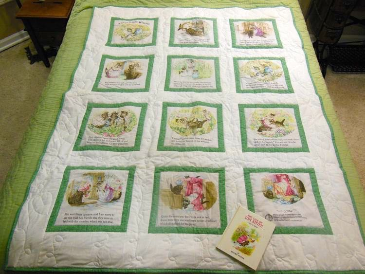 Three Little Kittens baby quilt with a complimentary book gift set. (Photo by Charlotte Ekker Wiggins)