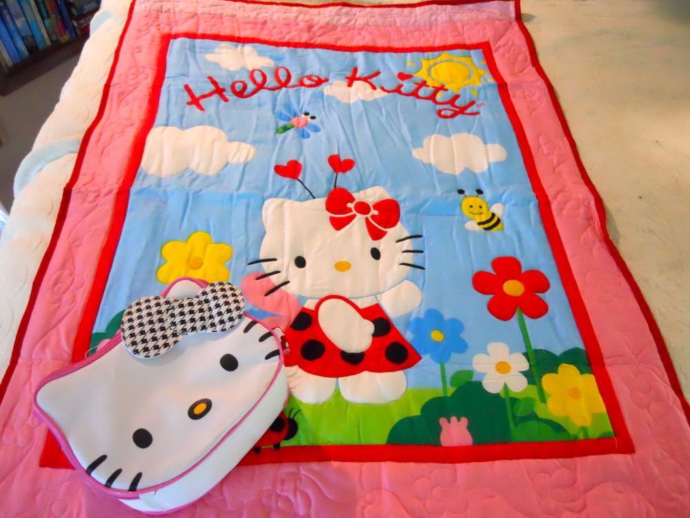 Hello Kitty Baby Crib Quilt Gift Set has a matching bag for the trip to and from Grandma's house!