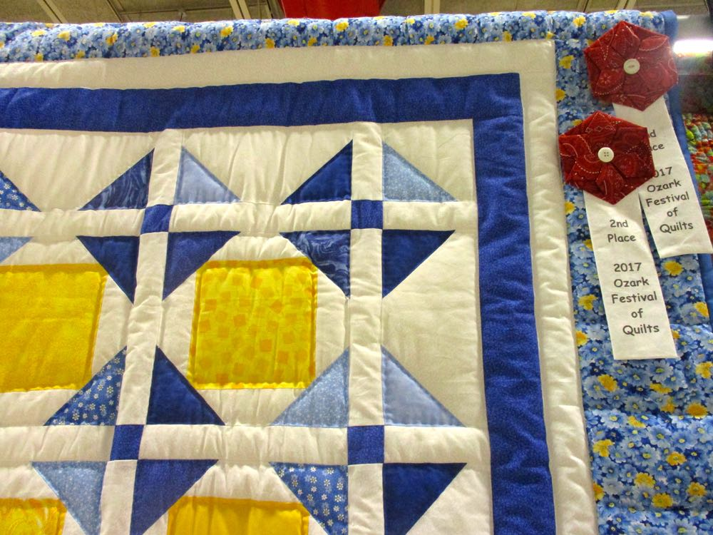 So did the judges, Sunshine Blue Skies handmade quilt won second place. (Photo by Charlotte Ekker Wiggins)
