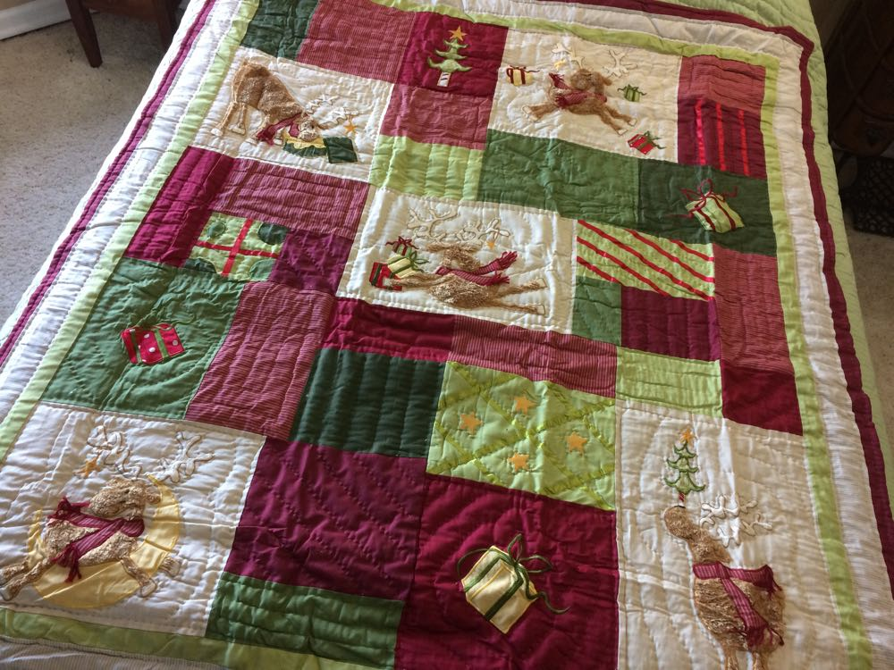 Reindeer Fun Lap Quilt sets the fun tone to the holidays. (Photo by Charlotte Ekker Wiggins)