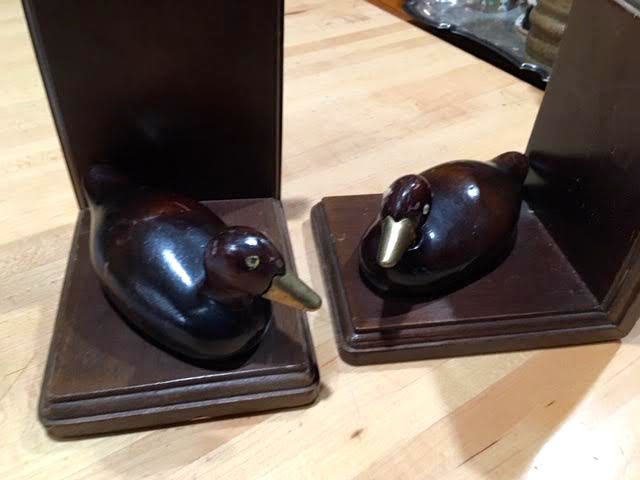 A pair of wood duck book ends for $1 for the pair. (Photo by Charlotte Ekker Wiggins)