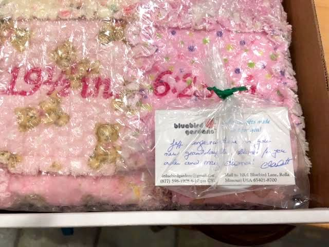 Shipping pink baby quilt gift.jpg