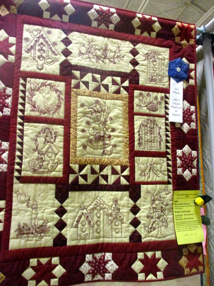 Winter Twitterings Handmade Quilt from the local quilt show last year. (Photo by Charlotte Ekker Wiggins)
