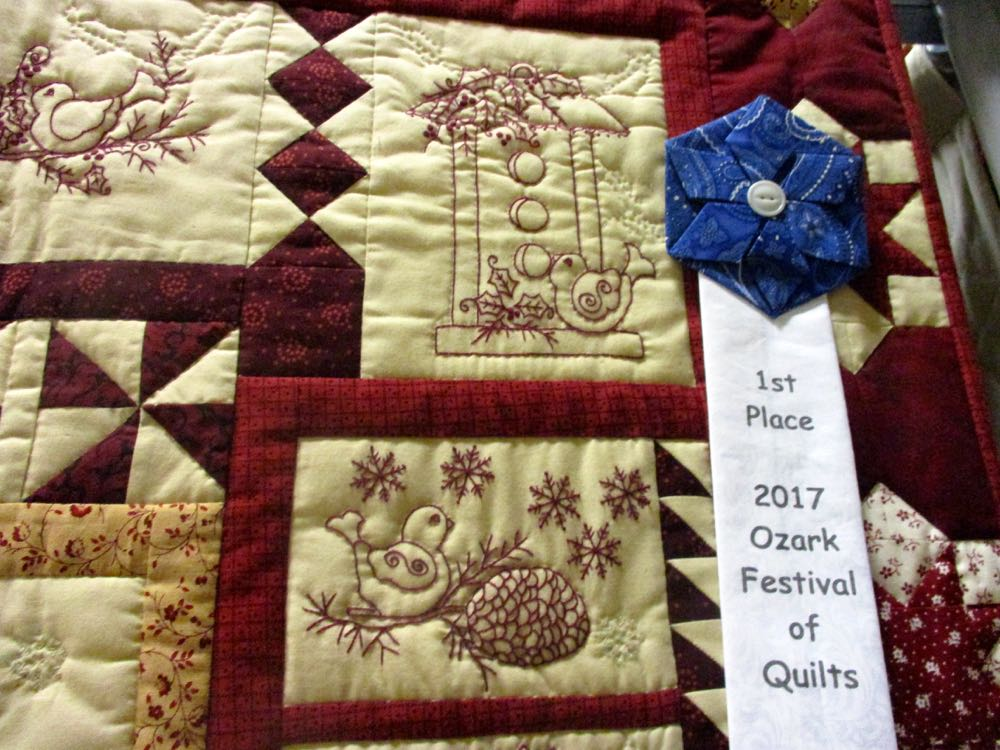 Not surprising, Winter Twitterings quilt won first prize. (Photo by Charlotte Ekker Wiggins)