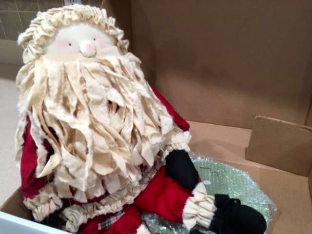 Not a sleight but should still get this Santa to his destination! (Photo by Charlotte Ekker Wiggins)